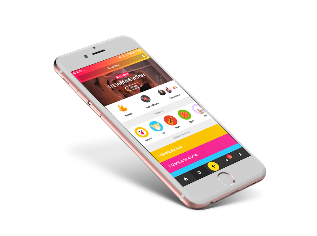 musical.ly Iphone Mockup App
