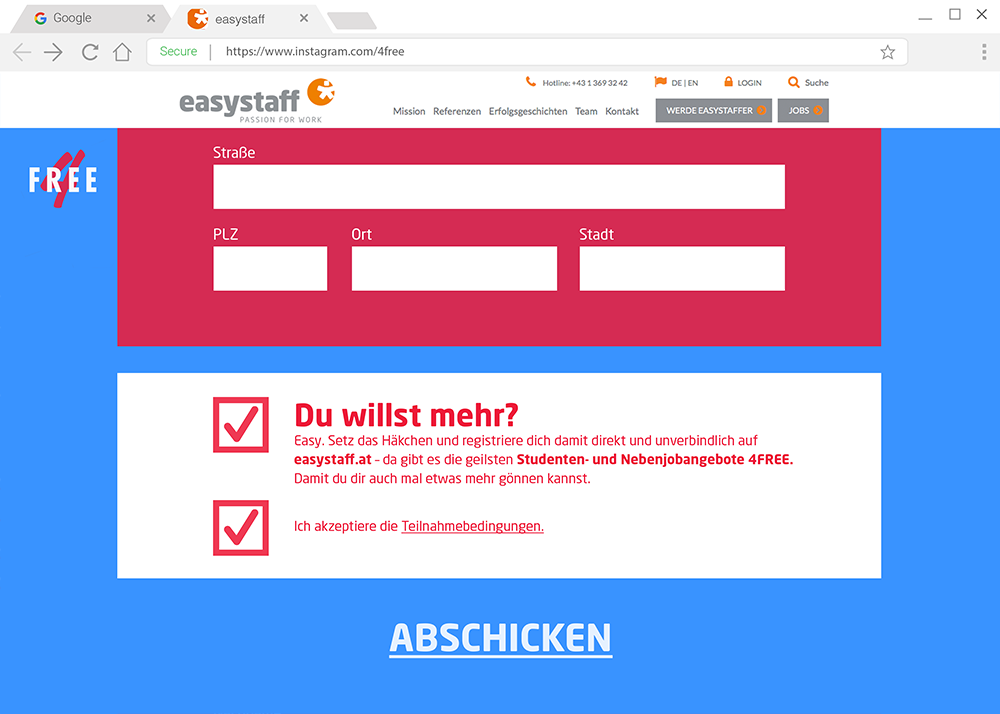 Young Lions Cyber Easy Stuff Mockup Anmeldeformular