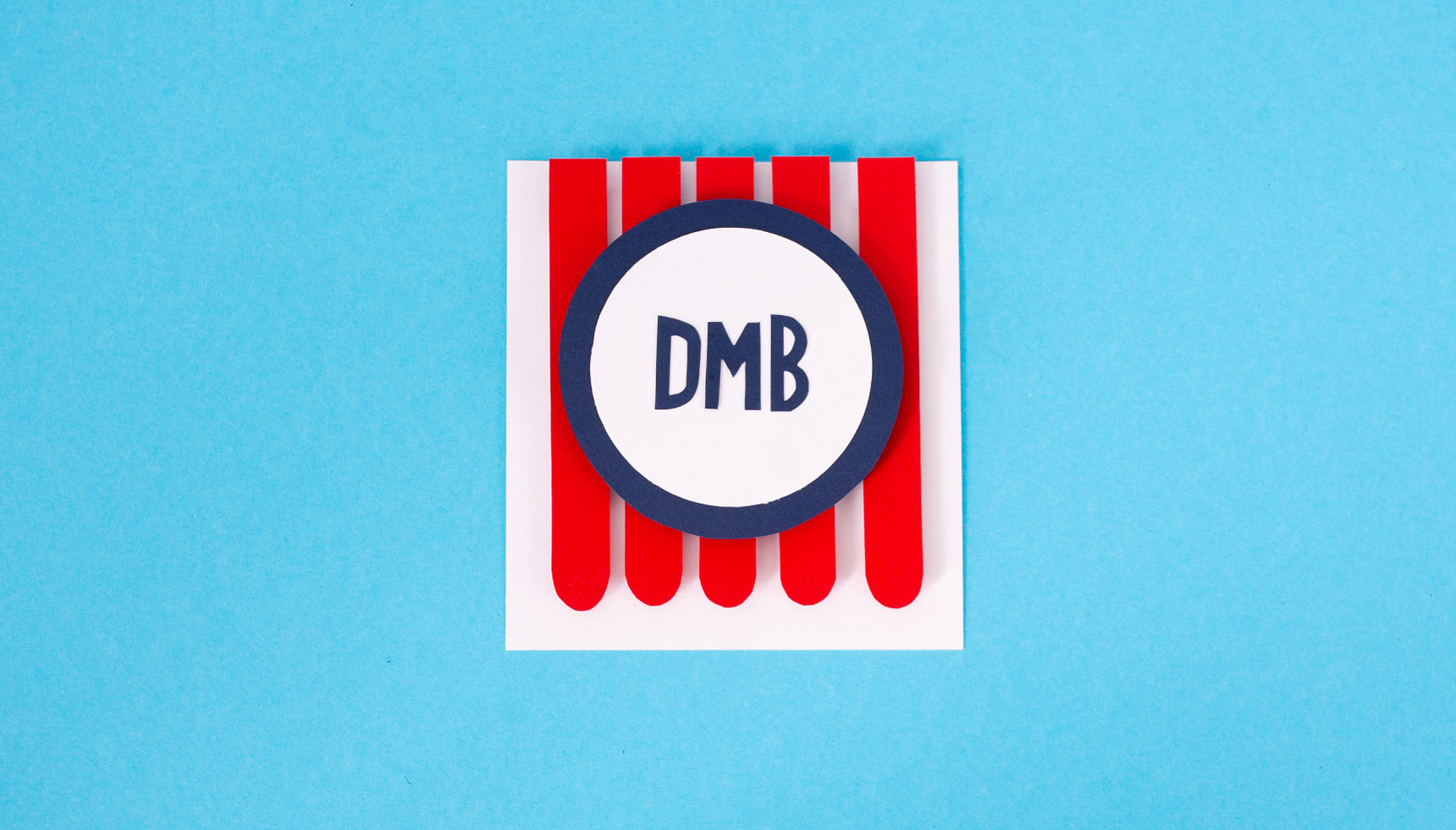 Ice Cream Menu Paper Craft Logo DMB