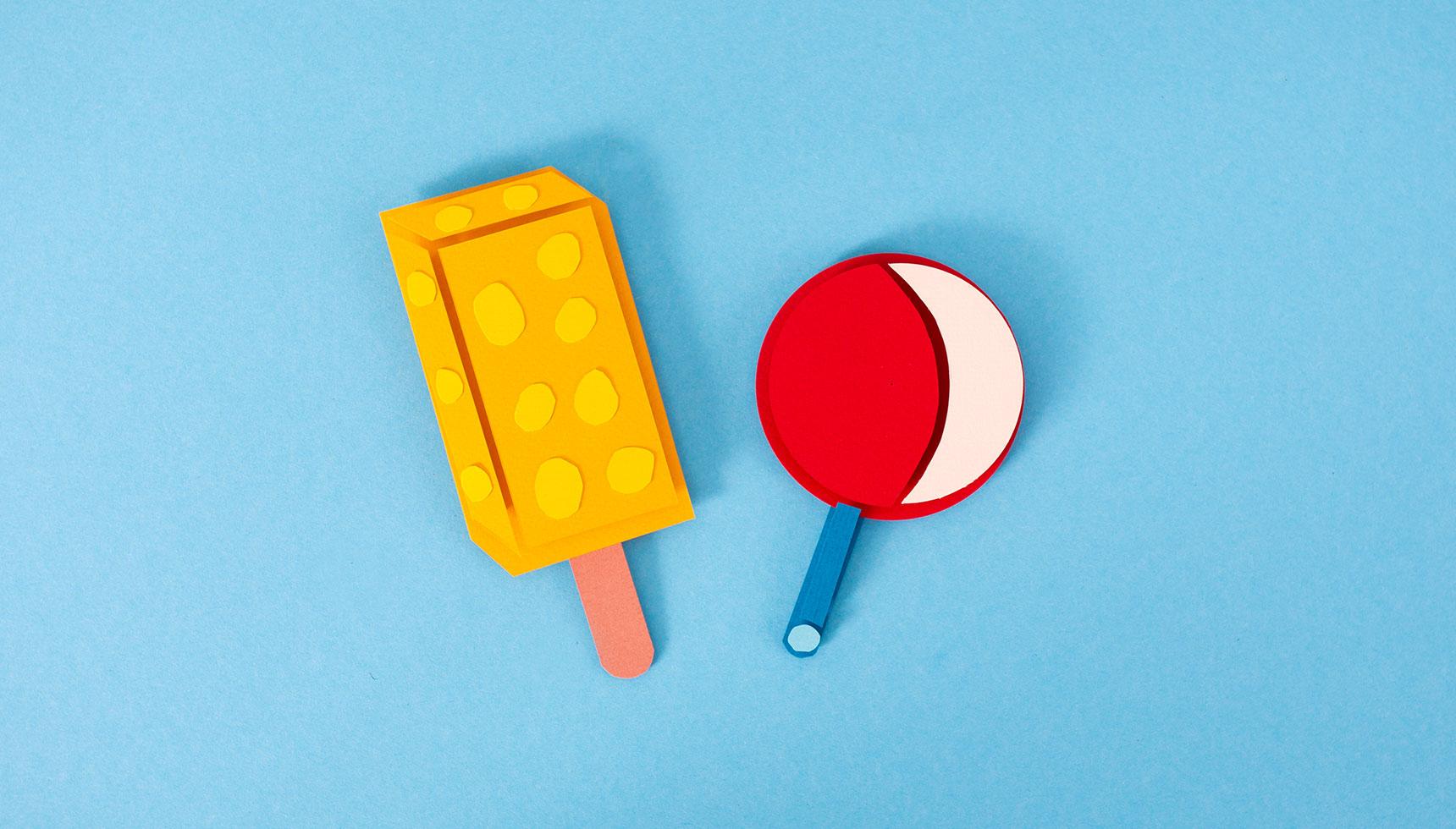 Ice Cream Menu Paper Craft Tschisi und BumBum