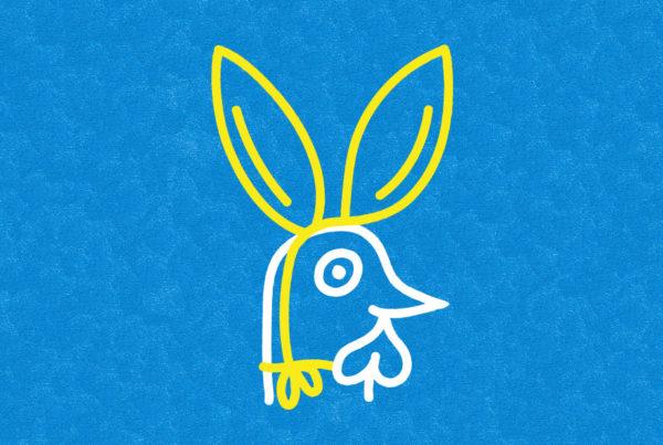 Illustration Vektor Chicken Huhn Ostern Easter Hasenohren Bunny Ears
