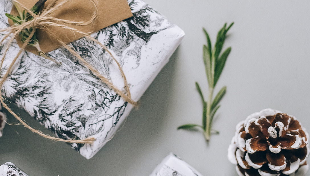 The art of wrapping presents.