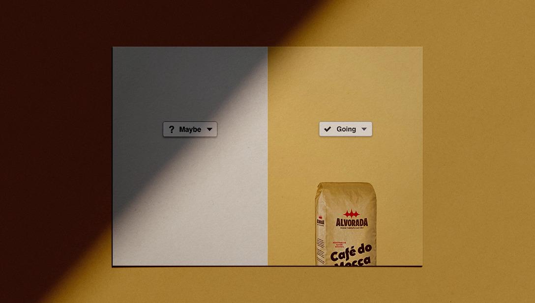 Sujet Kaffee Schatten Werbung
